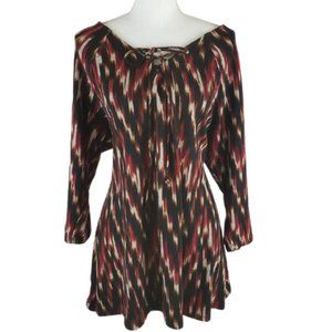 NOTATIONS WOMAN Multicolored Tunic, Size 1X